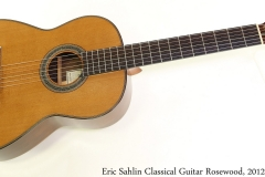 Eric Sahlin Classical Guitar Rosewood, 2012 Full Front View