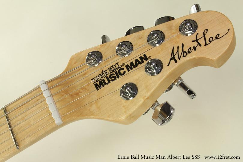 Ernie Ball Music Man Albert Lee SSS head front view