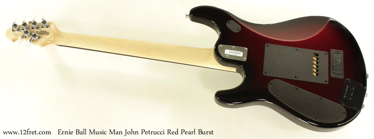 Ernie Ball Music Man John Petrucci Red Pearl Bust full rear