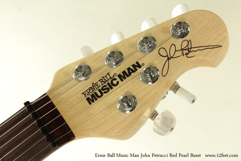 Ernie Ball Music Man John Petrucci Red Pearl Bust head front