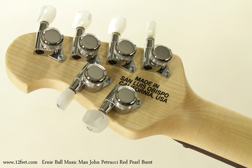 Ernie Ball Music Man John Petrucci Red Pearl Bust head rear