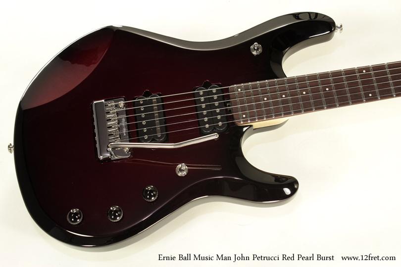 Ernie Ball Music Man John Petrucci Red Pearl Bust top