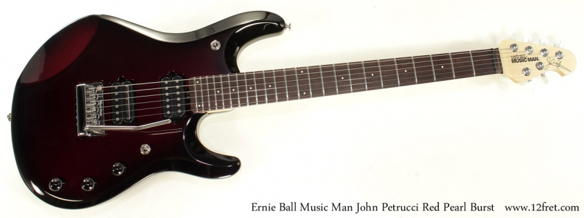 Ernie Ball Music Man John Petrucci Red Pearl Bust full front
