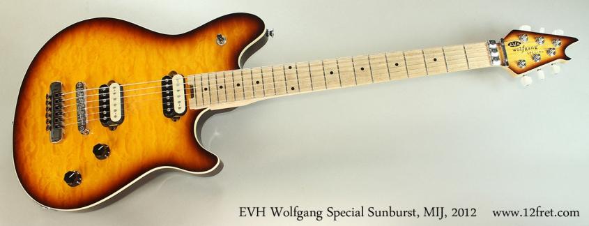 EVH Wolfgang Special Sunburst, MIJ, 2012 Full Front View