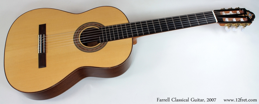 Gerald Farrell Hauser Style Classical Guitar, 2007 full front view