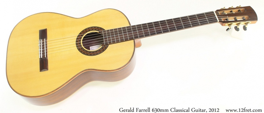 Gerald Farrell 630mm Classical Guitar, 2012 Full Front View
