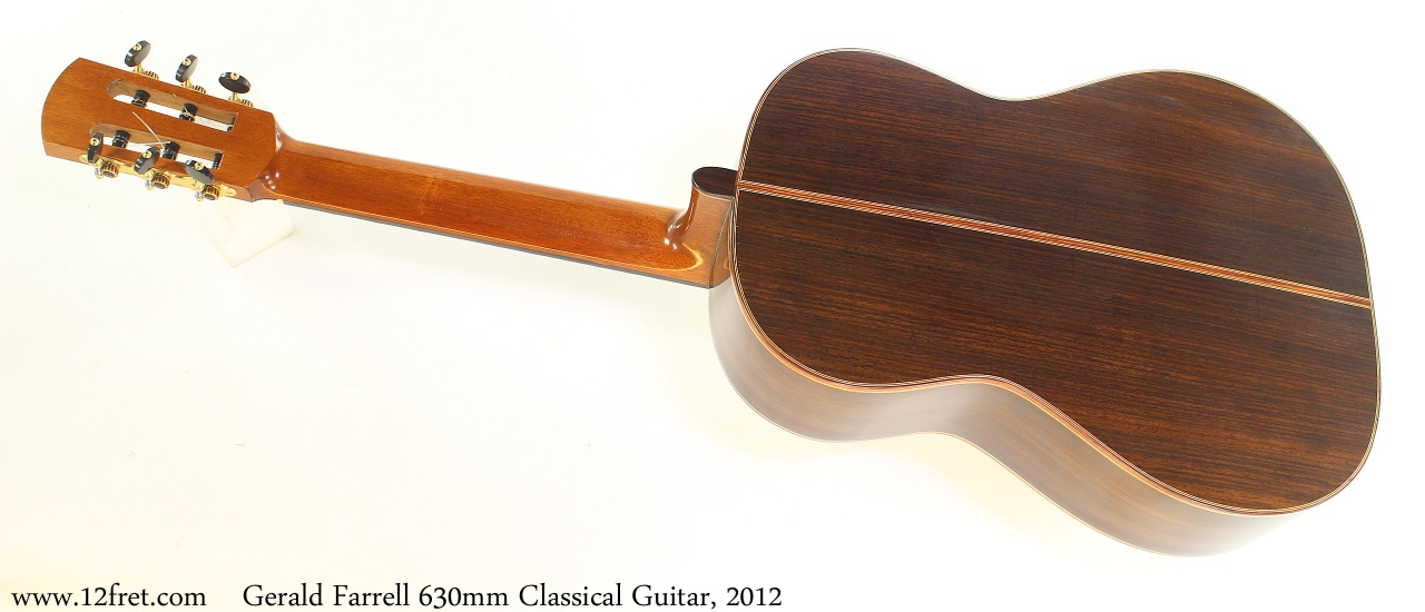Gerald Farrell 630mm Classical Guitar, 2012 Full Rear View