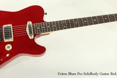 Feiten Blues Pro Solidbody Guitar Red, 2015 Full Front View