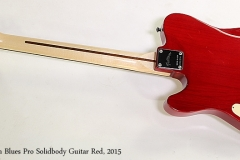 Feiten Blues Pro Solidbody Guitar Red, 2015 Full Rear View