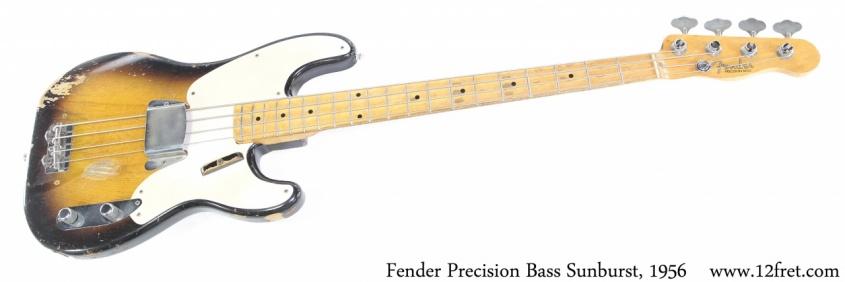 Fender Precision Bass Sunburst, 1956 Full Front View