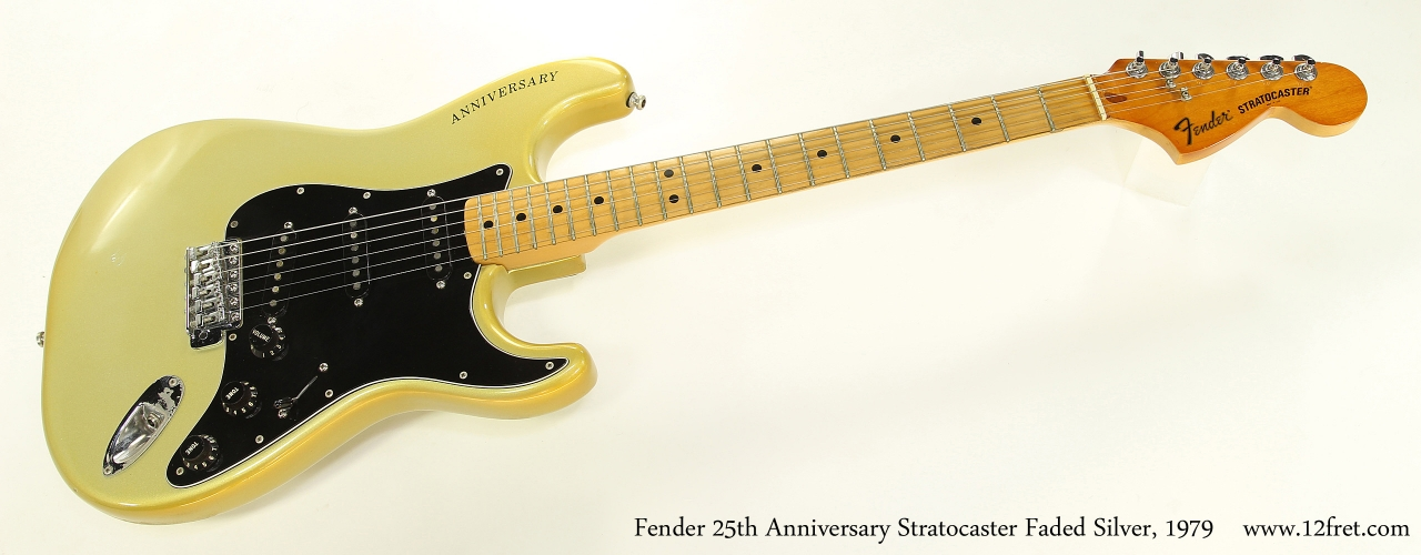 Fender 25th Anniversary Stratocaster Faded Silver, 1979 Full Front View