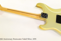 Fender 25th Anniversary Stratocaster Faded Silver, 1979 Full Rear View with Backplate