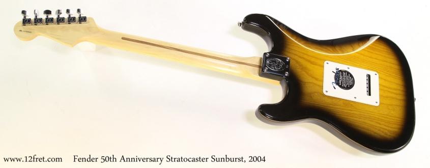 Fender 50th Anniversary Stratocaster Sunburst, 2004  Full Rear View