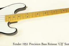 Fender 1951 Precision Bass Reissue 'CIJ' Sunburst, 2002 Full Front View