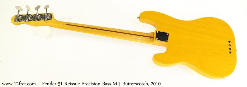 Fender 51 Reissue Precision Bass MIJ Butterscotch, 2010 Full Rear View