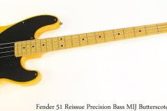 Fender 51 Reissue Precision Bass MIJ Butterscotch, 2010 Full Front View