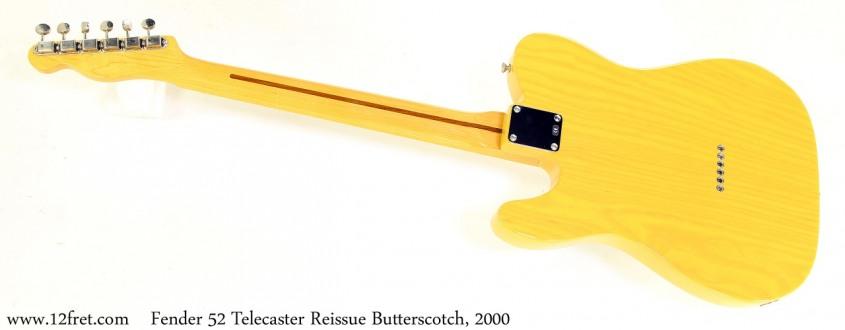 Fender 52 Telecaster Reissue Butterscotch, 2000 Full Rear View