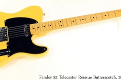 Fender 52 Telecaster Reissue Butterscotch, 2000 Full Front View