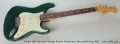 Fender 1962 American Vintage Reissue Stratocaster, Sherwood Green, 2007 Full Front View