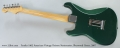 Fender 1962 American Vintage Reissue Stratocaster, Sherwood Green, 2007 Full Rear View