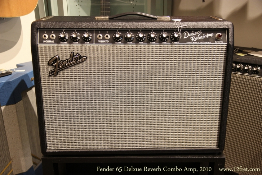Fender 65 Delxue Reverb Combo Amp, 2010  Full Front View