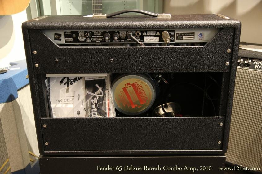 Fender 65 Delxue Reverb Combo Amp, 2010  Full Rear View
