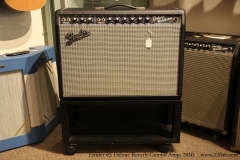 Fender 65 Delxue Reverb Combo Amp, 2010  Front with Stand