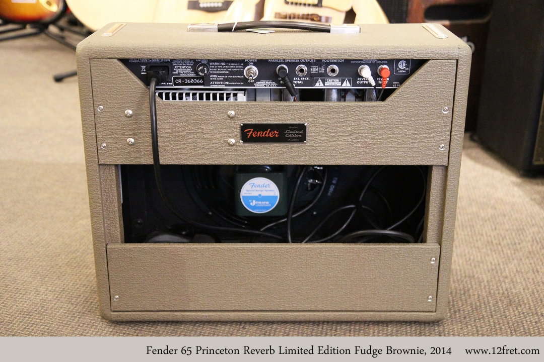 Fender 65 Princeton Reverb Limited Edition Fudge Brownie, 2014 Full Rear View