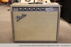 Fender 65 Princeton Reverb Limited Edition Fudge Brownie, 2014 Full Front View
