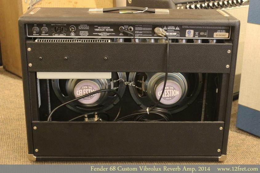 Fender 68 Custom Vibrolux Reverb Amp, 2014 Full Rear View