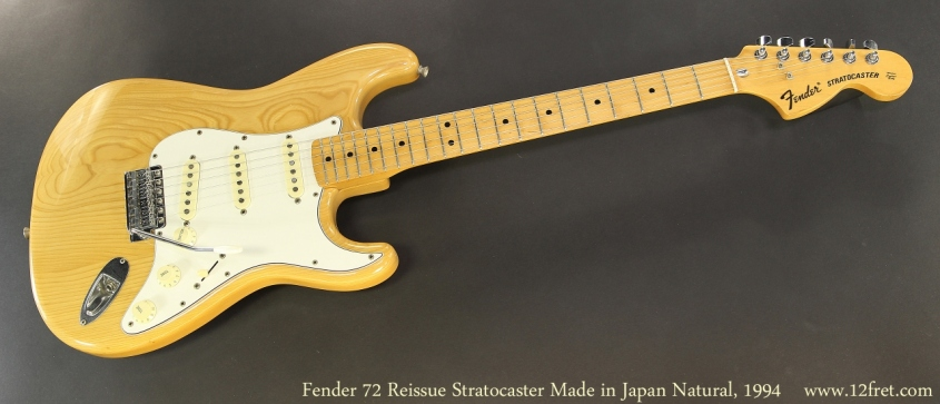Fender 72 Reissue Stratocaster Made in Japan Natural, 1994 Full Front View