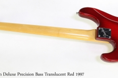 Fender American Deluxe Precision Bass Translucent Red 1997  Full Rear View