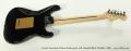 Fender American Deluxe Stratocaster Left Handed Black Metallic, 2006 Full Rear View