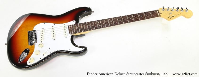 Fender American Deluxe Stratocaster Sunburst, 1999   Full Front View