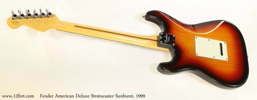 Fender American Deluxe Stratocaster Sunburst, 1999   Full Rear View
