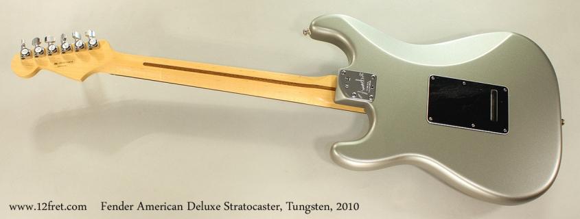 Fender American Deluxe Stratocaster, Tungsten, 2010 Full Rear View