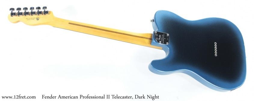 Fender American Professional II Telecaster, Dark Night Full Rear View