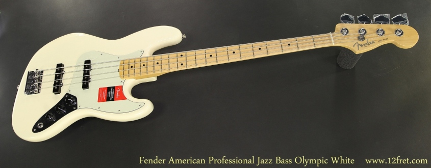 Fender American Professional Jazz Bass Olympic White Full Front View