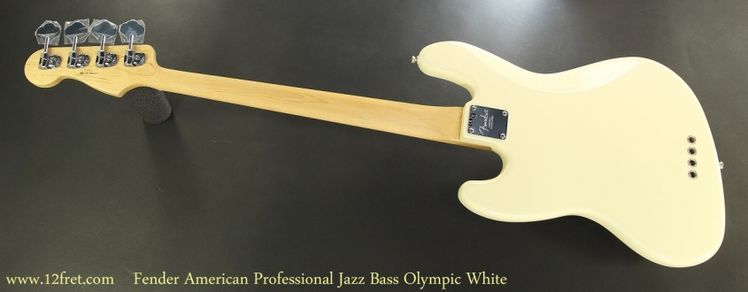 Fender American Professional Jazz Bass Olympic White Full Rear View