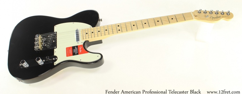 Fender American Professional Telecaster Black Full Front View