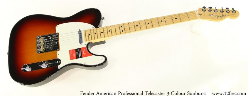Fender American Professional Telecaster 3-Colour Sunburst Full Front View