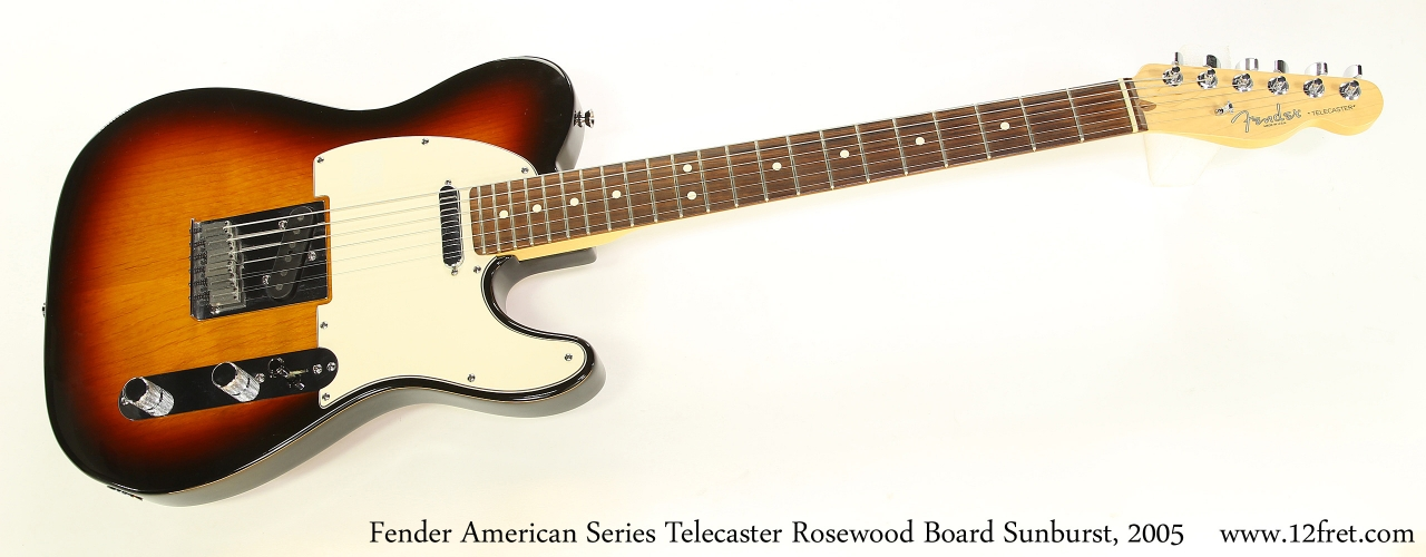 Fender American Series Telecaster Rosewood Board Sunburst, 2005   Full Front View