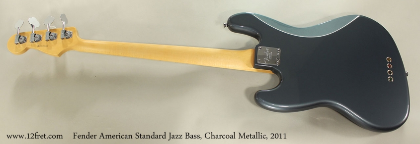 Fender American Standard Jazz Bass, Charcoal Metallic, 2011 Full Rear VIew