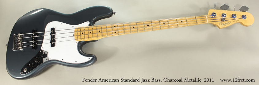 Fender American Standard Jazz Bass, Charcoal Metallic, 2011 Full Front View