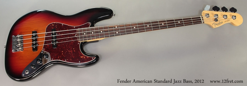 Fender American Standard Jazz Bass, 2012 Full Front View