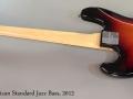 Fender American Standard Jazz Bass, 2012 Full Rear VIew