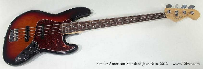 Fender American Standard Jazz Bass 2012 full front view