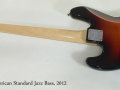 Fender American Standard Jazz Bass 2012 full rear view