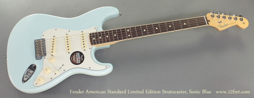 Fender American Standard Limited Edition Stratocaster Sonic Blue full front view
