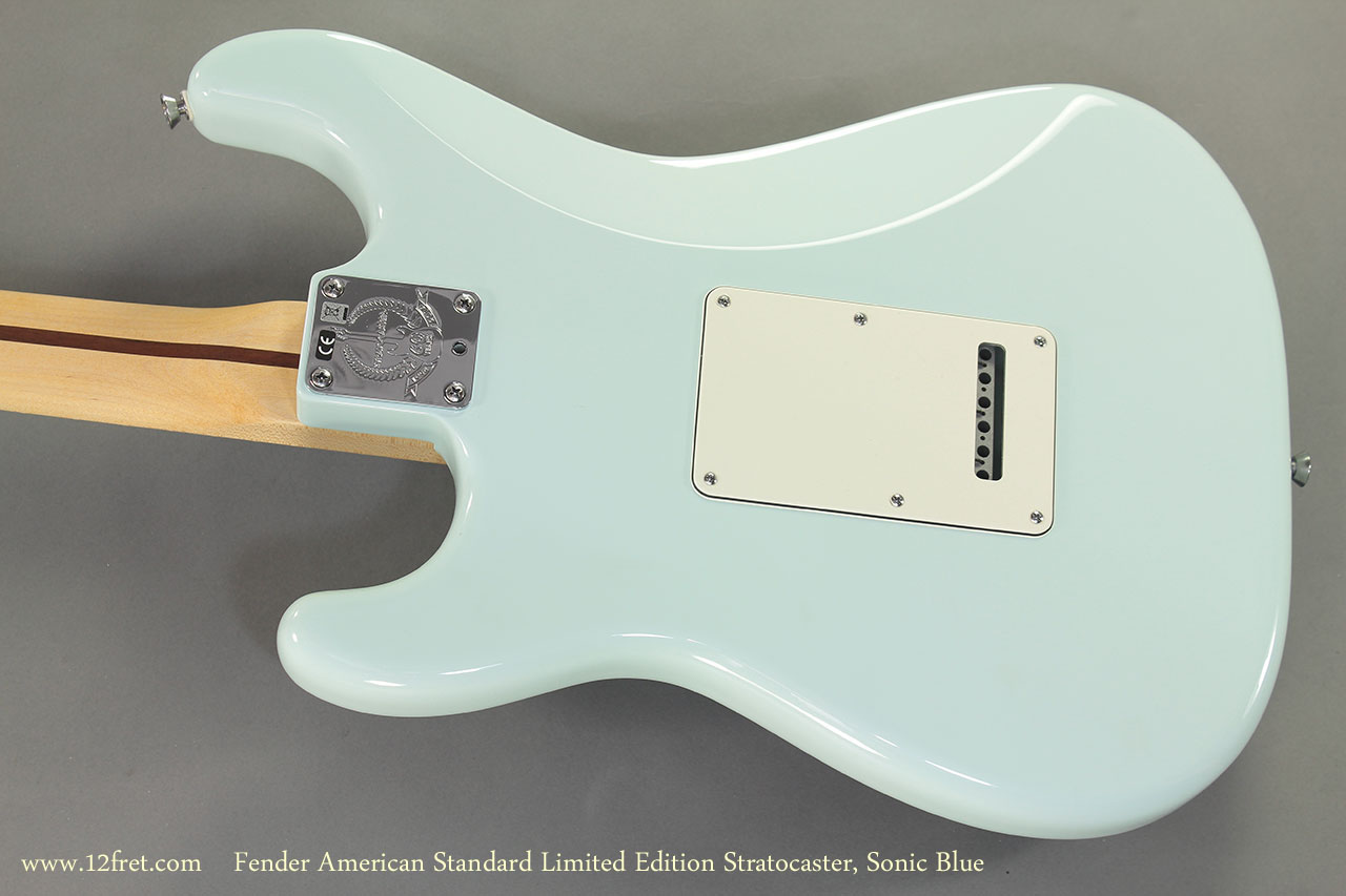 Fender American Standard Limited Edition Stratocaster Sonic Blue back